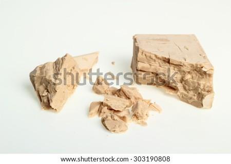 Fresh Yeast Block - stock photo