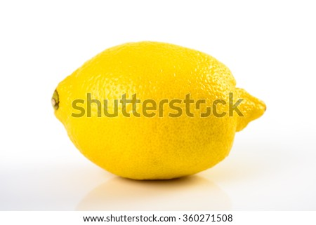Fresh Yellow Lemon On White