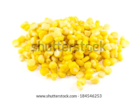 Fresh Yellow Maize on white background