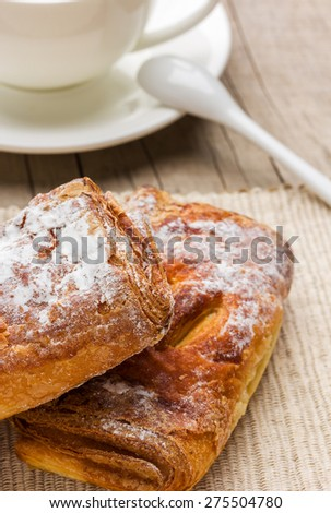 freshly baked cakes served on the table