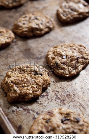 Freshly Baked Cookies - stock photo