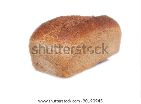 freshly baked Delicious Bread Loaf isolated on white