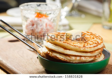freshly baked pancakes - stock photo