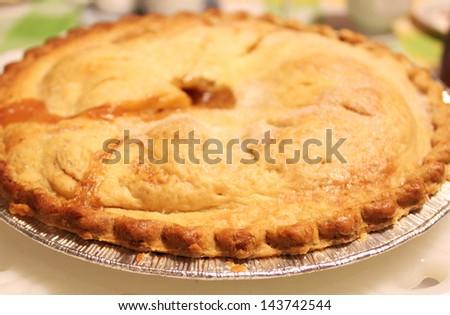 Freshly baked pie - stock photo