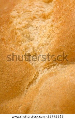 freshly baked white bread close-up background