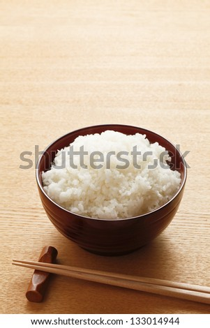 Freshly cook rice - stock photo