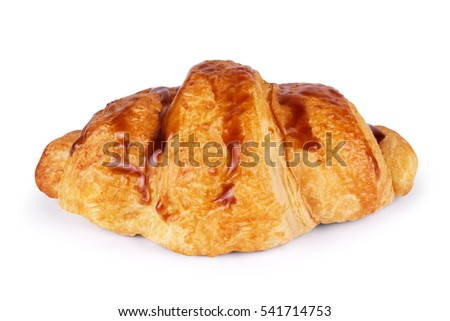 Freshly Croissant Isolated on White background