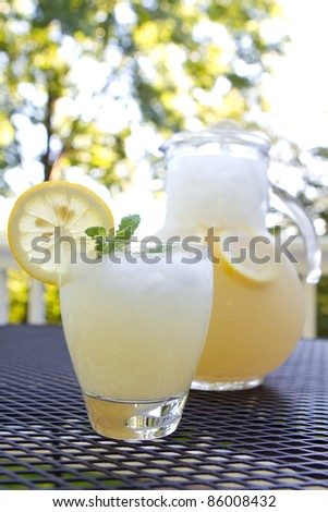 Freshly made lemonade