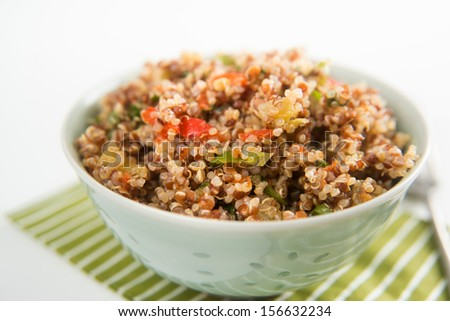 Freshly Made Quinoa Tabouli - stock photo