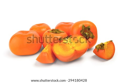 Freshly persimmon isolated on white
