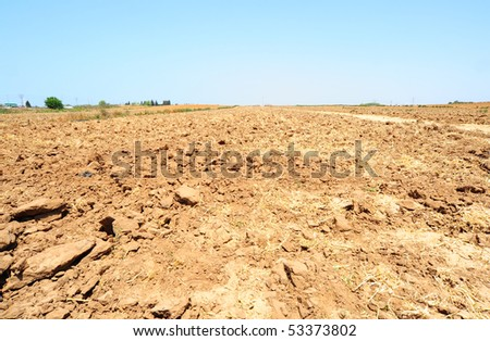 Freshly Plowed Field In Spring Ready For Cultivation.