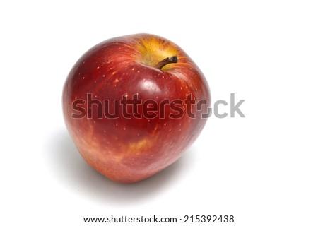 freshly ripe red apple - stock photo
