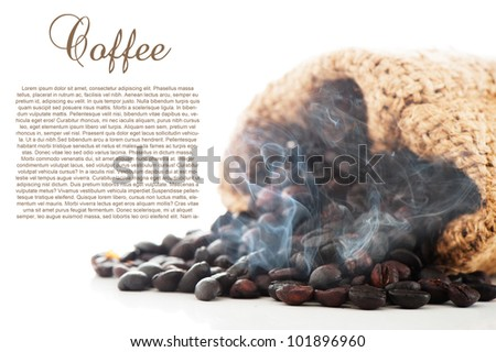 Freshly roasted coffee beans - stock photo