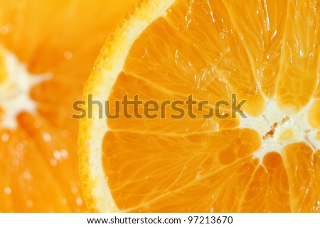 Freshly sliced orange - stock photo