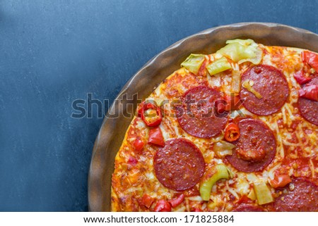 freshmade frozen pizza - stock photo