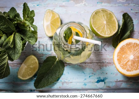 Freshness drink - stock photo