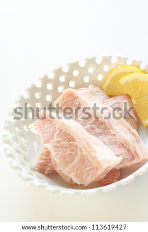 freshness pork neck for Korean barbecue
