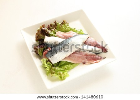 freshness prepared Sardine blue fish from Japan for reducing the occurrence of cardiovascular disease ingredient image - stock photo
