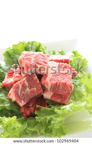 Freshness steak for Korean barbecue