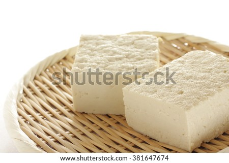 freshness tofu on bamboo basket