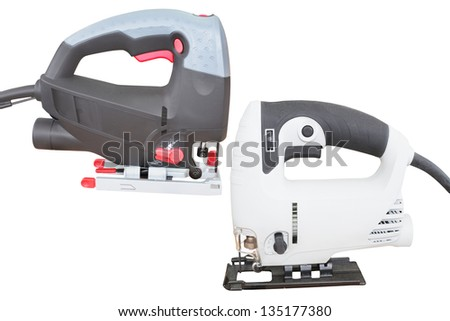 fret-saws under the white background