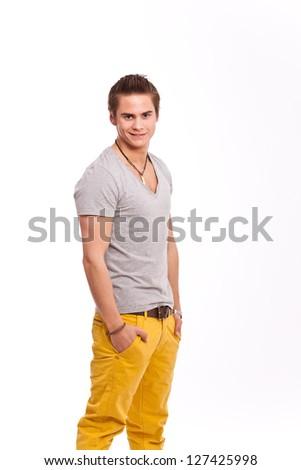Freundlicher junger Mann - stock photo