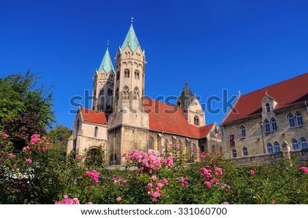 Freyburg church  - stock photo