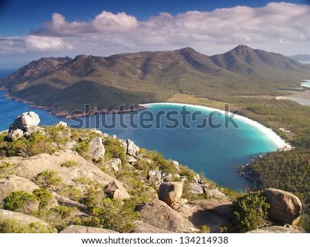 Freycinet National Park in Tasmania - stock photo