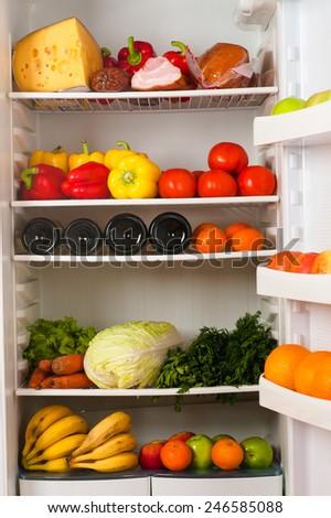 fridge - stock photo