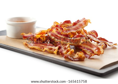 Fried Bacon - stock photo