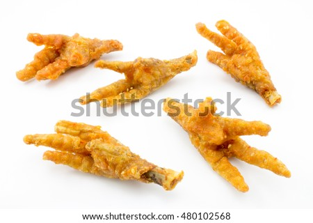 Fried chicken foot street food