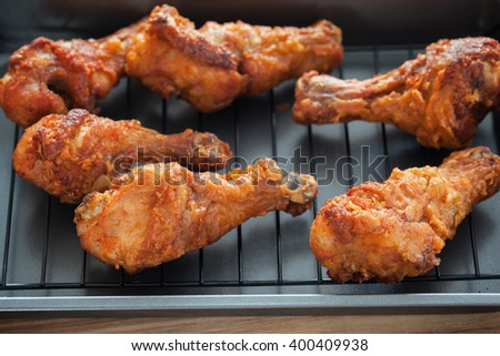 fried chicken in pan