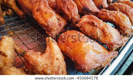 Fried chicken in Thailand market