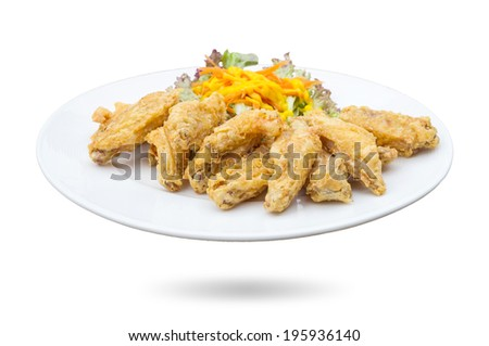 Fried Chicken in the plate
