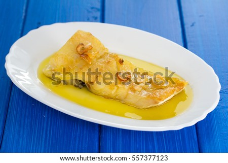 Portuguese food stock images royalty free images for Frying fish in olive oil