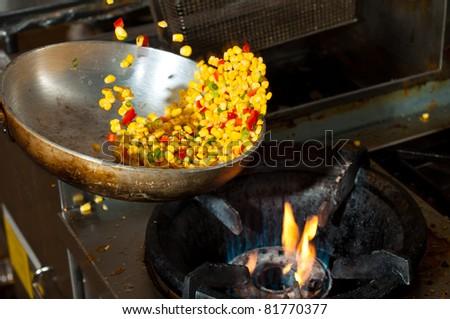 fried corn - stock photo