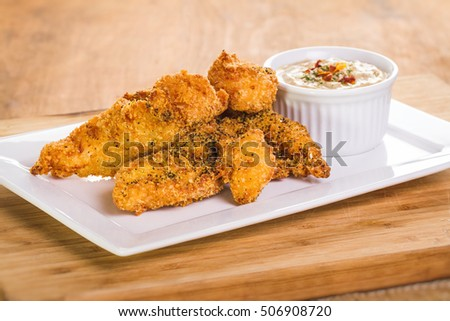 Fried Crispy chicken with lemon sauce