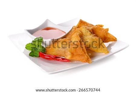 Fried dumplings :chinese food,asian food. - stock photo
