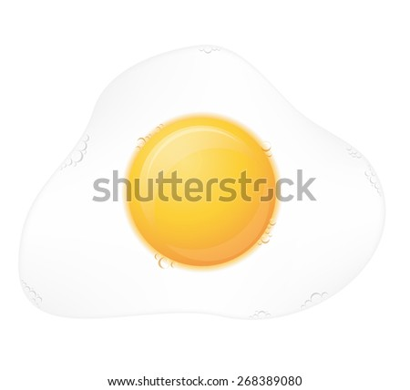 fried egg illustration isolated on white background
