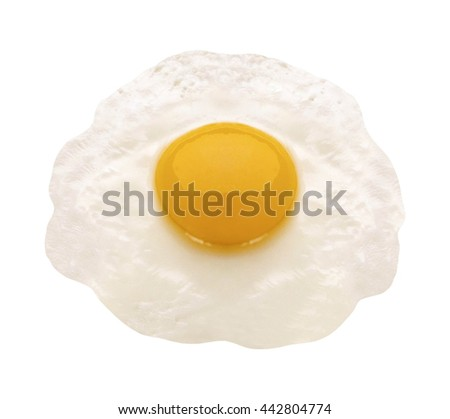 fried egg isolated