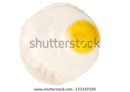fried egg isolated on white background