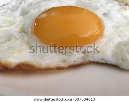 fried egg isolated (selective focus)