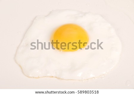 Fried Egg on ceramic frying pan