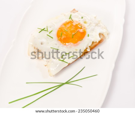 fried eggs as a small meal