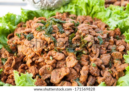 Fried Fish Cakes (or Tod Mun Pla in Thai) - stock photo