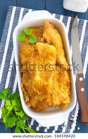 Fried fish in a batter