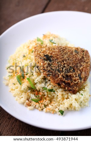 Fried fish with cous cous