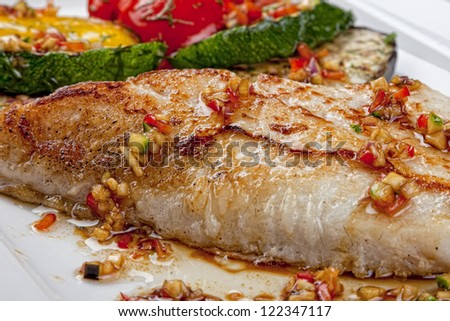 fried fish with the vegetables