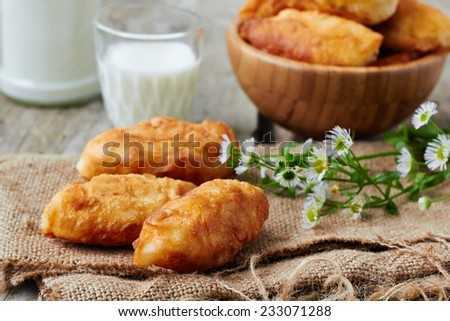 Fried fresh tasty pasties - stock photo