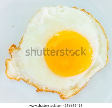 Fried in white dish - stock photo